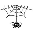 spider web and spider black graphic printable vector image vector image