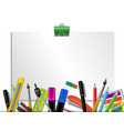 stationery colored background vector image vector image