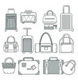 Suitcase or handbag bag or valise traveling
