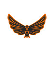 talisman flying eagle logo bird prey vector image