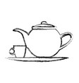 teapot and cup beverage element icon vector image vector image