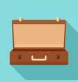 travel case icon flat style vector image vector image