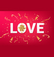 valentines day festive background vector image vector image