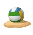 Volleyball on the sand vector image vector image