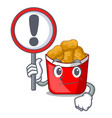 with sign chicken nuggets isolated with the vector image