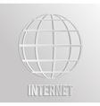 worldnet the internet vector image