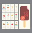 calendar 2018 ice cream set flat design dessert vector image