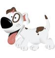Cute funny dog playful dog cartoon dog dog vector image