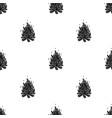 bonfiretent single icon in black style vector image
