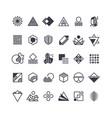 geometric shapes and symbols geometrical vector image