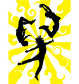 jamping silhouette vector image