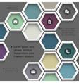 New design hexagons background for website vector image