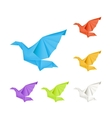 Origami doves set vector image