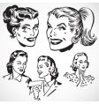retro women talking