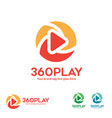 360 degree view player logo vector image vector image
