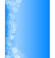 abstract blue christmas background with white snow vector image vector image