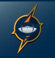 american football logo template college logos vector image