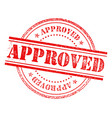 approved stamp icon sign vector image vector image
