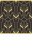 art deco pattern seamless vector image vector image