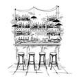 bar interior setting sketch vector image