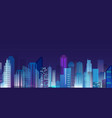 beautiful night city vector image