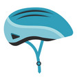 blue bicycle helmet isolated on a white background vector image vector image