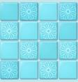 blue tile pattern vector image vector image