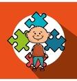 boy kids puzzle icon vector image