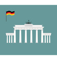Brandenburg Gate in Berlin landmark of Germany vector image