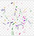 bright sparkle of colorful confetti vector image