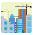 Buildings construction vector image