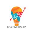 bulb lamp financial logo design vector image vector image