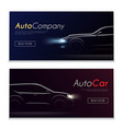 cartrader horizontal banners set vector image