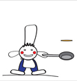 Cheerful man cook vector image