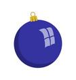 christmas ball flat style vector image vector image