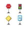 city road signs icon vector image vector image