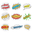 collection nine wording sound effects vector image vector image
