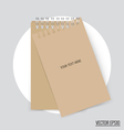 Collection of note papers ready for your message vector image vector image