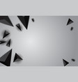 color abstract geometric banner with triangle vector image