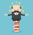 concept cartoon business man who is mindful vector image