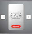 console device game gaming psp line icon in vector image vector image