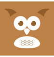 cute owl face background vector image vector image