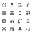 desk icons vector image vector image