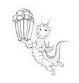 dragon coloring contour vector image vector image
