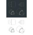 drill chucks drawings vector image vector image