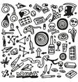 drugs- doodles set vector image