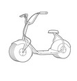 electric scooter line icon wheel scooter vector image vector image