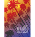 Exotic Travel Background with Palm Trees for vector image vector image