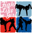 fight like a girl vector image vector image