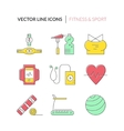 Fitness Icons vector image